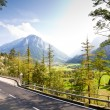 Stock Photo: Road in Swiss Alps