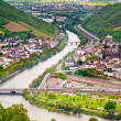 Stock Photo: Rhine valley under clouded sky