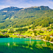 Majestic mountain lake in Switzerland — Photo