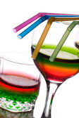 Rainbow colored straws — Stock Photo