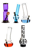 Bongs en verre eau — Photo