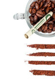 Złe przypadku uzależnienia kawy — Zdjęcie stockowe