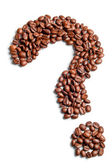Question shaped coffee beans — Stock Photo