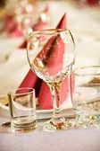 Arranged celebration table — Stock Photo