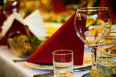 Arranged celebration table — Foto Stock