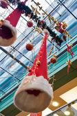 διακοσμήσεις στο εσωτερικό μεγάλο ευρωπαϊκό εμπορικό κέντρο — Φωτογραφία Αρχείου