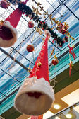 Decorations inside big european mall — Stock Photo