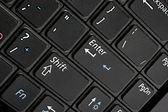Black computer keyboard macro — Stock Photo