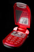 Red cell phone — Stock fotografie