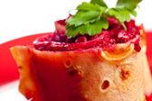 Vegetarian roll macro — Stock Photo