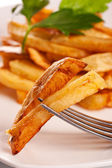 Potato fries on a plate — Stock Photo