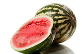 Watermelon isolated on white — Stok fotoğraf