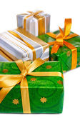Wrapped gift boxes — Stock Photo