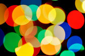 Multicolored blurred lights — Stock Photo