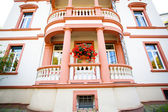 European house with balcony — Stock Photo