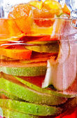 Chilled refreshing fruit drink in jar — Stock Photo