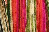 Fundo multicolorido de fio — Fotografia Stock