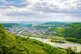 Rhine valley under clouded sky — Stock Photo
