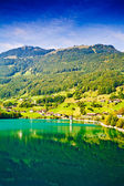 Majestic mountain lake in Switzerland — Zdjęcie stockowe
