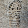 Footprint on concrete texture — 图库照片