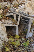 Crooked underpin rubble — Stock Photo