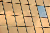 Glass facade panel background — Stock Photo