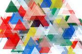 Illustrazione del modello triangoli — Foto Stock