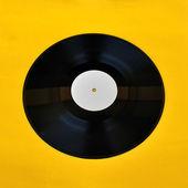 Vinyl record white label promo — Stock Photo