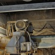 Dust covered cutting wheel — Stockfoto