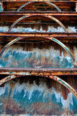 Old rusty iron staircase — Stock Photo