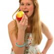 A young girl with an apple in his hand — Stock Photo #10063852
