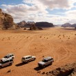 Offroad advendure in Wadi Rum — Stock Photo