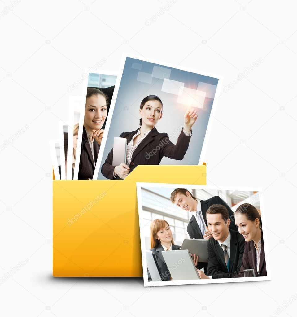 A folder with different pictures — Stock Photo #10624488