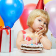 Girl wit balloons — Stock Photo #8759229
