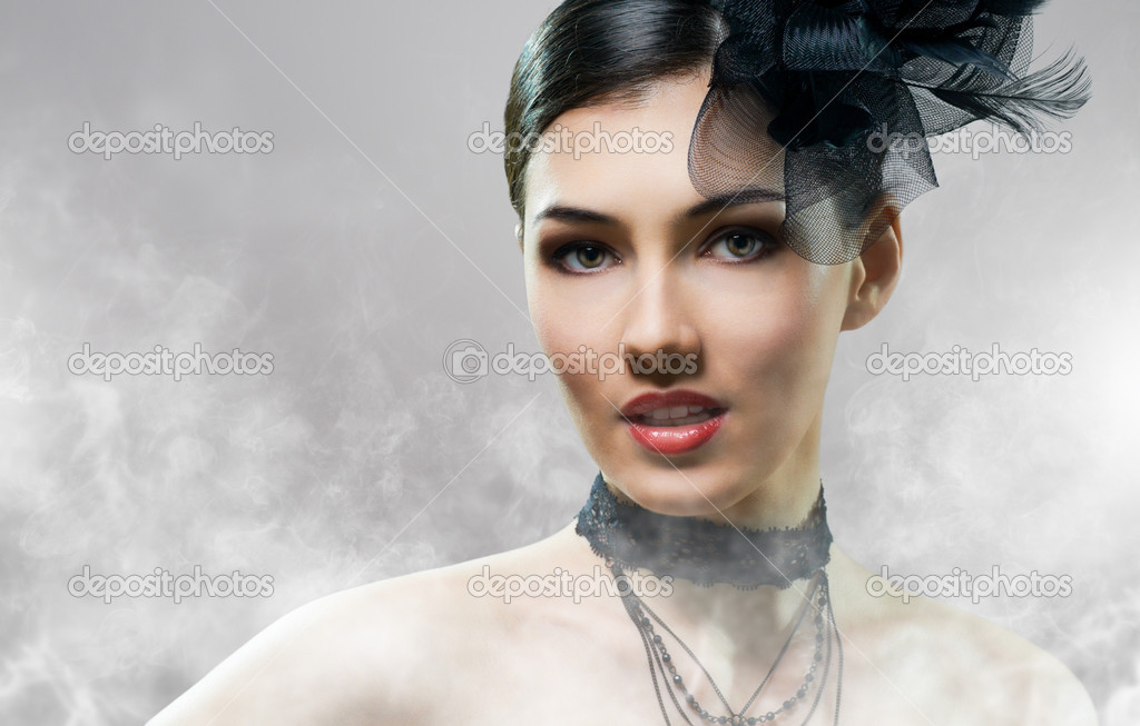 Beautiful girl in vintage style — Stock Photo #8759247