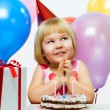 Girl wit balloons - Stock fotografie
