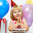 Girl wit balloons - Stockfoto