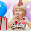 Stock Photo: Girl wit balloons