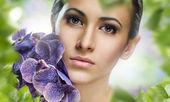 Flower girl — Stock Photo