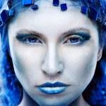 Portrait of winter queen — Stock Photo #8125022