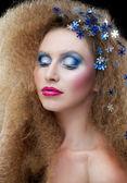 Kreativní make-up — Stock fotografie