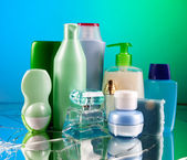 Cosmetic bottles — Stock Photo