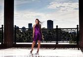 Schönheit-modell unter freiem himmel — Stockfoto