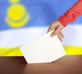 Vote on Flag of Buryatia — Stock Photo