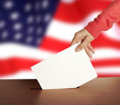Vote on Flag of USA — Stock Photo