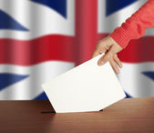 Vote on Flag of England — Stock Photo