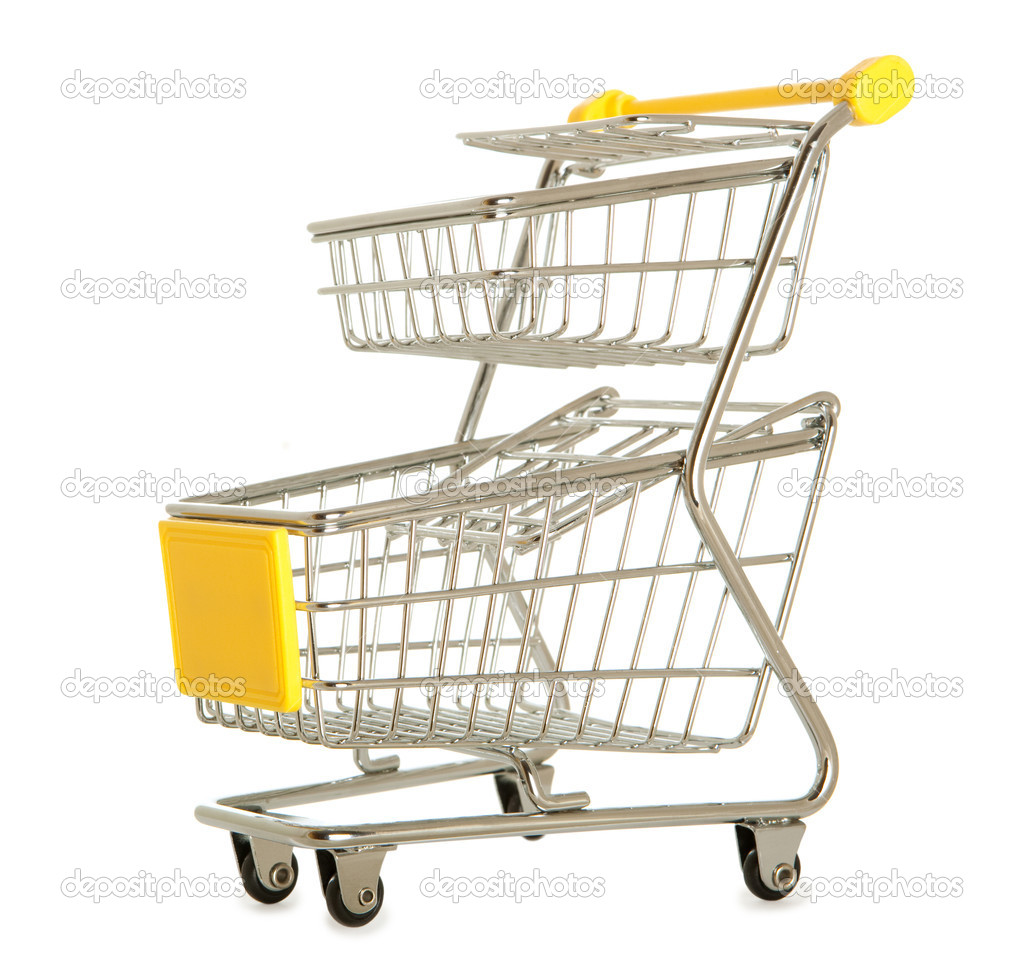 Shopping cart against the white background  — Stock Photo #9047123