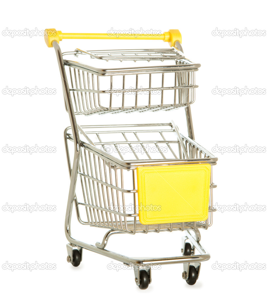 Shopping cart against the white background  — Stock Photo #9047129