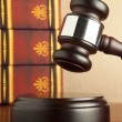 Old Gavel and book — Stock Photo