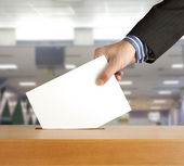 Voting ballot — Stock Photo